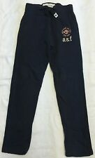 Abercrombie Kids Navy Blue Sweatpants With Felt Logo Lettering Sz Small. NWOT!