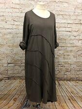 Moonshine Fashion Kleid Tunika lang Lagenlook Übergröße 44 46 48 50 52 NEU braun