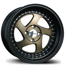Avid1 AV19 15X8 Rims 4x100 +25 Bronze Jdm Wheels 5 Spokes Twisted New Set (4)