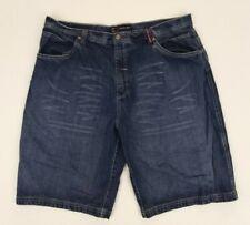 "Bugle Boy Men's 5 Pocket Denim Bermuda Shorts 42"" Waist Factory Distressed"