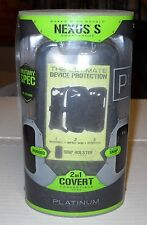 Platinum Black 2 in 1 Covertible Case w/Holster#SGC31SB For Google Nexus S, NEW