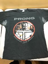 "VINTAGE RARE PRONG ""REMOVE THE SIGHT"" VINTAGE 90'S T SHIRT USED XL PIT STAINS"