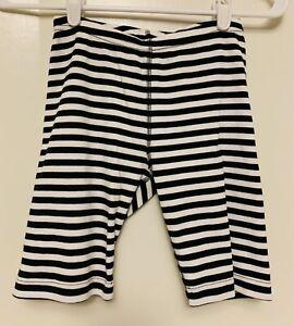 Hanna Andersson 130 cm sz 8 Girls Boys black white stripe shorts pajama bottoms