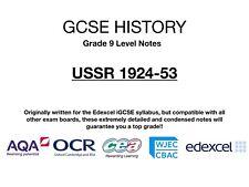 GCSE (9-1) History Notes - USSR 1924-53