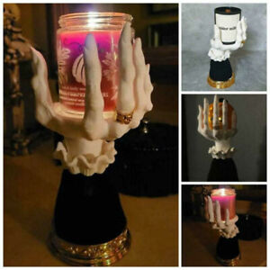 Witch Hand Candlestick Halloween Statue Prop Candle Holder Gothic Ornament Gift