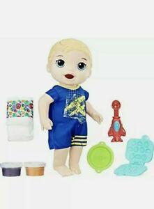 Baby Alive Super Snacks Snackin' Luke Blonde NIB