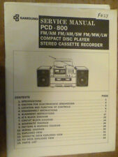 Samsung  PCD-800 Stereo System Original  Service Manual