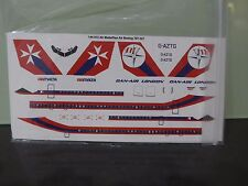Air Malta/Dan-Air Boeing 707-321 two six decals GAZTG+Bonus AirMalta pen rare