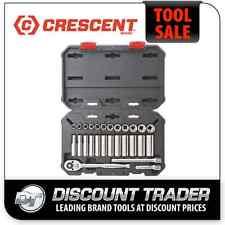 "Crescent 27Pc 3/8"" 6 & 12 Pt Metric Standard & Deep Socket Wrench Tool Set CSWS9"