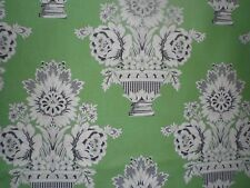 """Fabric- Gorgeous--""""Governor's Palace"""" by Williamsburg --6.5"""" tall Vases on Green"""