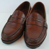 Allen Edmonds Men's Rockland Penny Loafers Brown Leather MSRP $195 Size 10 D