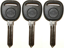 3 NEW UNCUT CADILLAC CHEVY TRANSPONDER CHIP IGNITION KEY B111-PT W/Chevy Logo