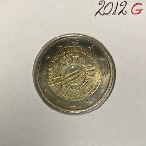 Allemagne - 2 Euro 2012 G - 10 ans de circulation de l'Euro
