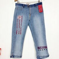 Pepe Jeans London reversed Material  logo cropped jeans Size 29