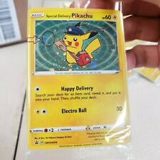 """SEALED Double Swirl """"Special Delivery Pikachu"""" Promo DS15"""
