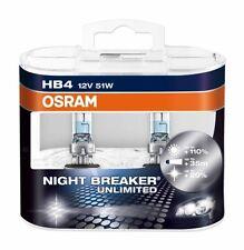 OSRAM NIGHT BREAKER HB4 HALOGENLAMPE ABBIEGESCHEINWERFER 12V 51W+110% P22D (2ER)