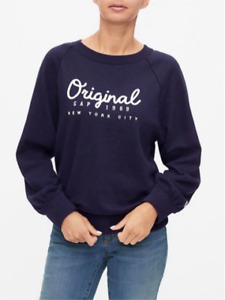 BNEW GAP Logo Pullover Womens Sweater, Small, Navy