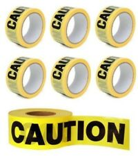 Warning Caution Tape 3 X 50m Black and Yellow PVC Self Adhesive Hazard Safety