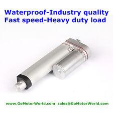 Waterproof DC12V 6'' Stroke 40mm/s speed 44Pound fast speed Linear Actuator