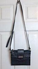 Nine West Black Crossbody Wallet Handbag Purse Adjust Strap Pockets Card Slots