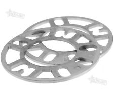 2PCS 5MM ALLOY WHEEL SPACERS SHIMS SPACER UNIVERSAL 4 AND 5 STUD FIT