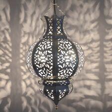 Orientalische Lampe marokkanische Hängeleuchte Orient Hängelampe Silber KKT