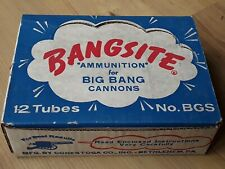 NOS vintage 1980 box 12 pack Big-Bang Cannon Bangsite Ammo   For display only