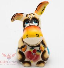 Winnie the Pooh Eeyore Donkey Russian Gzhel porcelain figurine souvenir handmade