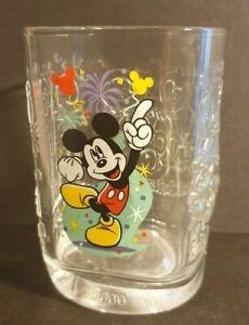 Disney : Mickey Mouse Glass Tumbler : Magic Kingdom  McDonalds 2000