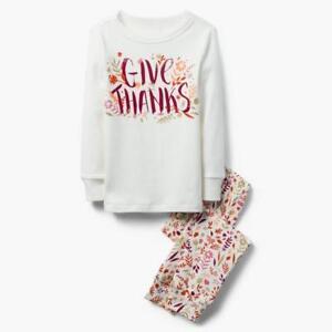 NWT Gymboree Give Thanks Gymmies Pajama Set Girl Thanksgiving Holiday