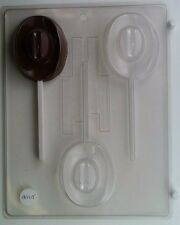 COWBOY HAT LOLLIPOP CLEAR PLASTIC CHOCOLATE CANDY MOLD AO105