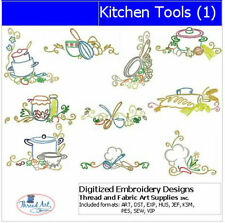 Embroidery Design CD - Kitchen Tools(1) - 10 Designs - 9 Formats - Threadart