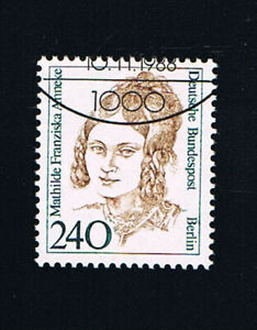 GERMANIA BERLINO BERLIN FRANCOBOLLO DONNE MATHILDE ANNEKE 1988 timbrato (BB733)