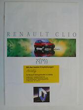 Prospetto RENAULT CLIO OTTIMO, 9.1992, 8 pagine