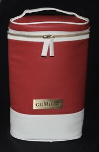 wine carrier cooler bag GH MUMM champagne 2 bottle red white gold plate