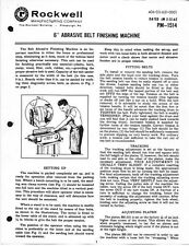"Delta Rockwell 6"" Abrasive Belt Finishing Machine Instructions"