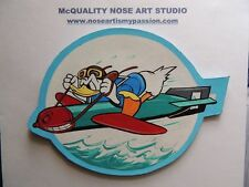NAVY DONALD DUCK LEATHER PATCH A2 B3 G1 JACKET AVG WWII BOMBER F4U HELLCAT