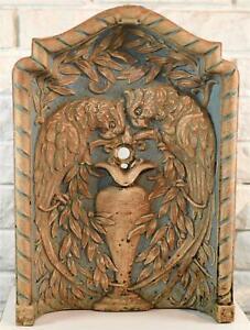 RARE Antique Batchelder California Tile Pottery Peacock Bird Water Fountain
