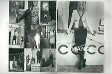▬► PUBLICITE ADVERTISING AD CHANEL 4 pages photos mode 2002