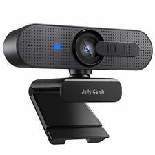 Jelly Comb 1080P HD Webcam mit Objektivdeckel, Streaming Webkamera mit Autofokus