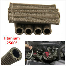 8x Titanium 2500° Spark Plug Wire Boots Protector Sleeve Boot Heat Shield Covers