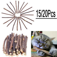 15pcs/20pcs Cat Snacks Matatabi Chew Catnip Stick Teeth Molar Cleaning Brush Toy