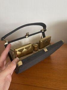 Vintage Kigu Evening Bag Powder Compact With Lipstick Comb Cigarette Case
