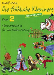 Klarinette Noten Schule : Die fröhliche Klarinette  Band 2 ( MAUZ )  ED 21502