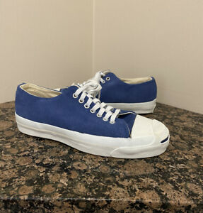 Vintage Converse Jack Purcell Blue Canvas USA Made Mens 8 US