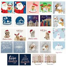 Pack of 10 Christmas Cards with Glitter / Foil Detail - Choose Design