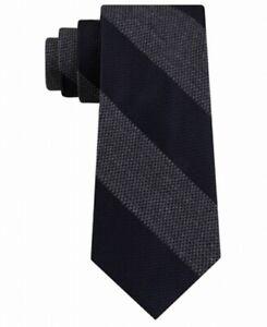 Tommy Hilfiger Mens Neck Tie Navy Blue Andy Striped Skinny Slim Silk $69 #520