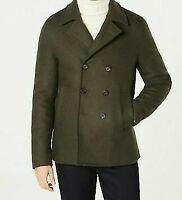 New Michael Kors Men's Wool Winter Peacoat Olive Green NWT Button MSRP $498