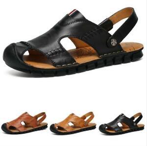 Mens Beach Slingbacks Sandals Shoes Closed Toe Slippers Walking Non-slip Sand D