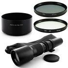 Albinar 500mm Lens  67mm,Filter,Hood for Pentax PK K-5 K-r x 7 Kr Kx K7 K5 K20D